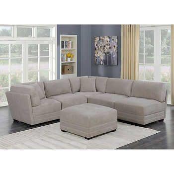 Lenora 6 Piece Modular Fabric Sectional Fabric Sectional Fabric Sectional Sofas Living Room Sets Furniture