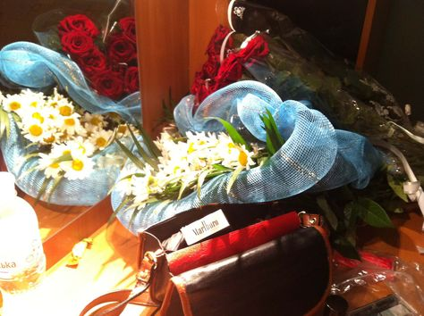 Ukraine-4/6/12  Ukraine was off the hook-we were met airport by committee of people with flowers and gifts…I received more of them...flowers...like loads of bunches through out whole gig....my 5 minutes of grand 'ladydom'….great gig to full house. The audience was a mixed bag all ages....like a time warp 40 years back in time.....beautiful people. Nxx