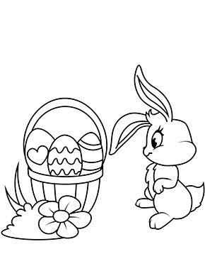 Osterhase Mit Korb Zum Ausmalen Ausmalbilder Malvorlagen Ostern Osterhase Kindergarten Osterei Oster Ausmalbilder Ostern Bilder Osterhase