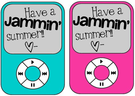 Ginger Snaps: End of the Year Freebie - send kids off for summer with a collection of songs from 2012 with this little note!