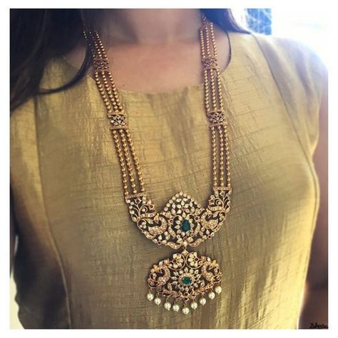 Ethnic Long Necklace From Zahana ~ South India Jewels