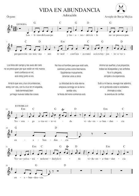 Vida En Abundancia Partitura Piano Buscar Con Google Partituras Musica Partituras Piano