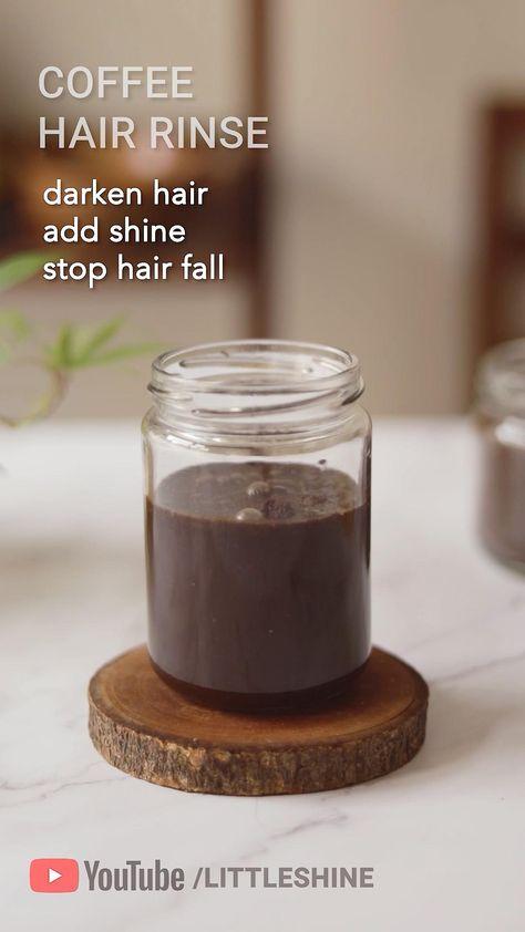 COFFEE HAIR RINSE stop hair fall and darken hair