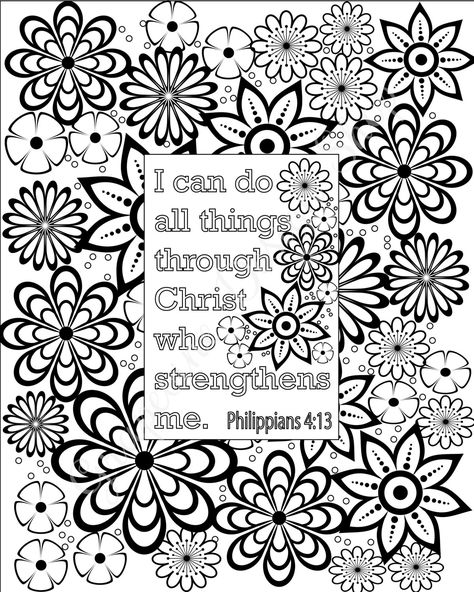 top 10 free printable bible verse coloring pages online kids learning verses and bible - Philippians 4 6 Coloring Page