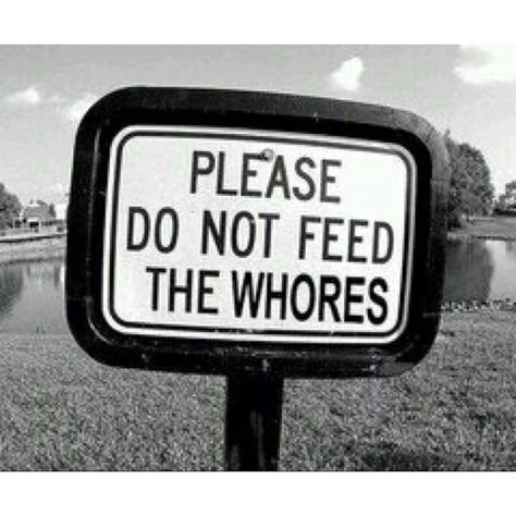 Please do not feed the whores.