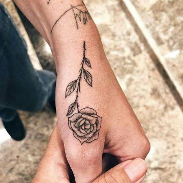Tatuajes En La Mano De Rosas Para Hombres