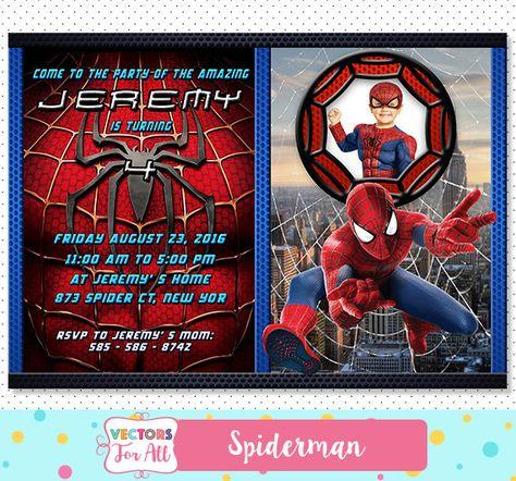 Spiderman Invitation Spiderman Party Spiderman Invite