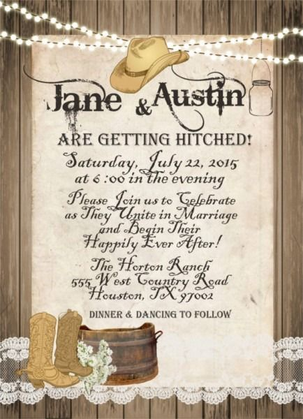 Western Theme Wedding Invitations Western Wedding Invitations Western Theme Wedding Invitations Country Wedding Invitations Templates