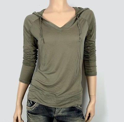 Adidas Womens Hoodie Hooded Sweater Shirt Long Sleeve Longsleeve Hoody Army  Green 51e6c19786