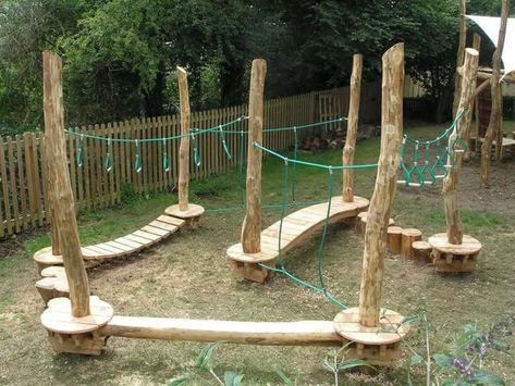 Natural Outdoor Playground, Diy Playground, Playground Design, Playground Flooring, Small Backyard Landscaping, Backyard For Kids, Backyard Projects, Landscaping Ideas, Garden Kids