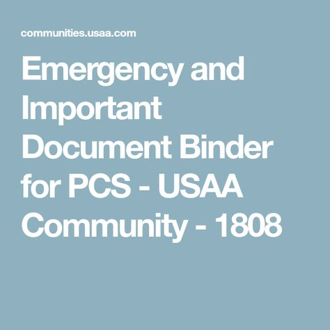 Emergency And Important Document Binder For Pcs Important