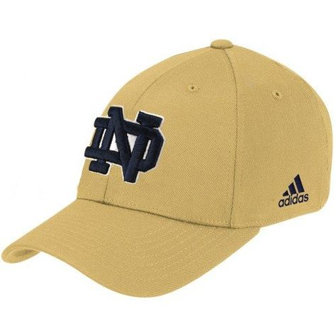 413f4636aab adidas Notre Dame Fighting Irish Gold Basic Logo Flex Hat