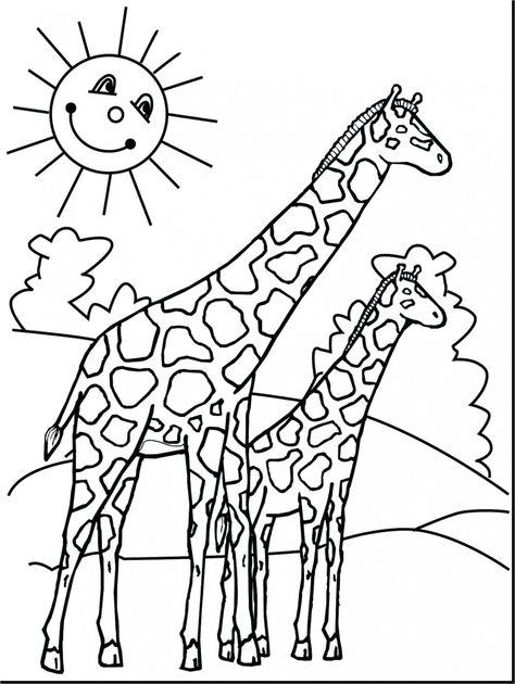einzigartig malvorlagen tiere giraffe | giraffe coloring