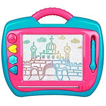 Peradix Pizarras Mágicas Con Sellos Pizarra Infantil Tablero De Dibujo Educación De Dibujar Y Escribir Rosa Magnetic Drawing Board Drawing Board Sketch Tablet
