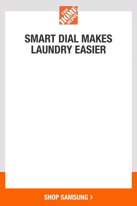 Samsung's new washer and dryer will improve your laundry space with a premium finish and a clean, modern design. Anti-microbial technology keeps your clothes cleaner and the Smart Dial remembers your most frequently used laundry settings. You can conveniently control your appliances via Wi-Fi connectivity. Tap to shop Samsung's new Smart Dial front load washer and dryer at The Home Depot.