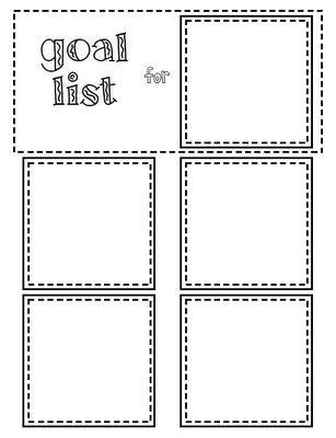 Sticky Note List Freebie  Printables    Goal List