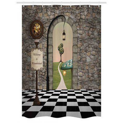 East Urban Home Alice In Wonderland Stall Shower Curtain Single