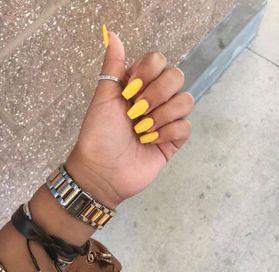 ♡Pinterest♡ @lalalalizax #yellownails