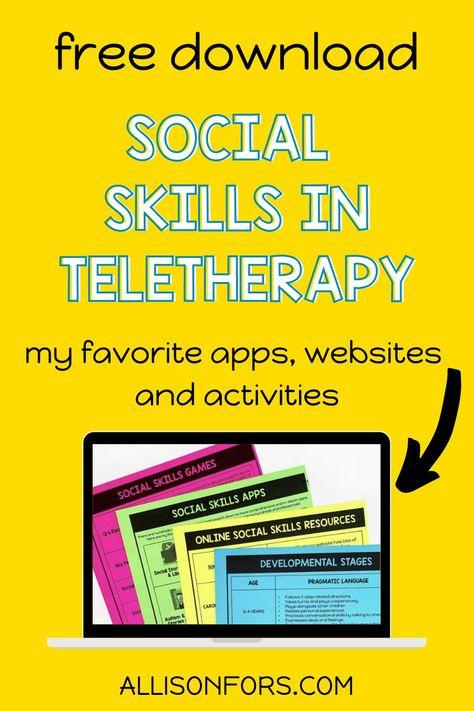 100 Social Skills Activities And Ideas In 2021 Social Skills Activities Social Skills Speech Language Therapy