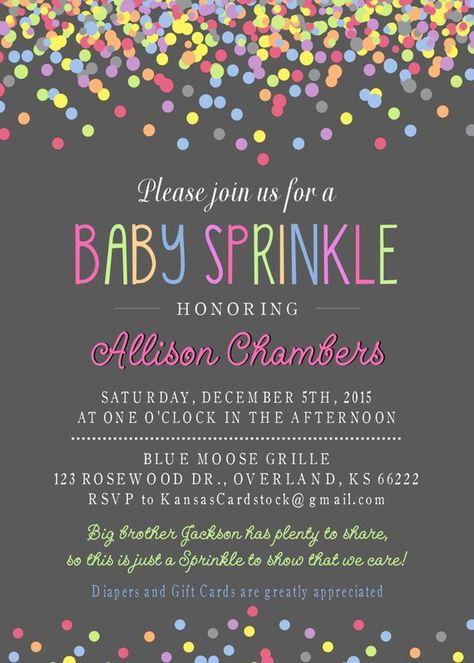 Baby Sprinkle Invitation, Girl Sprinkle Invitation, Baby Girl Sprinkle, DIY Printable, Baby Shower i