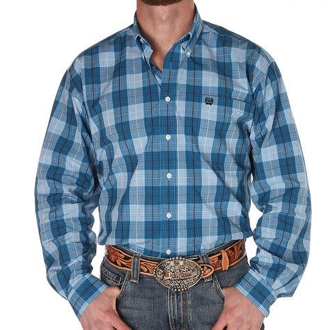 Men s Ariat Classic Buttondown Coral and White Print Long Sleeve Shirt  6012e0ae671