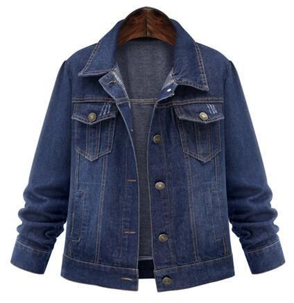 Vialumi Womens Regular Size Distressed Denim Jacket with Button Closure Many Styles!