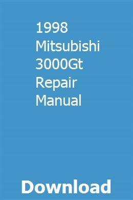1998 Mitsubishi 3000gt Repair Manual Owners Manuals Repair Manuals Mitsubishi Lancer