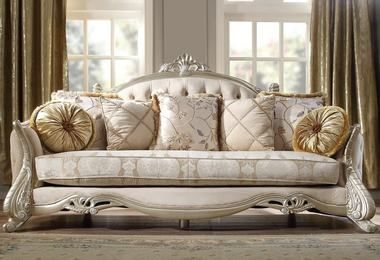Homey Design H 661 Sofa Sofa And Loveseat Set Luxury Furniture Sofa Victorian Living Room