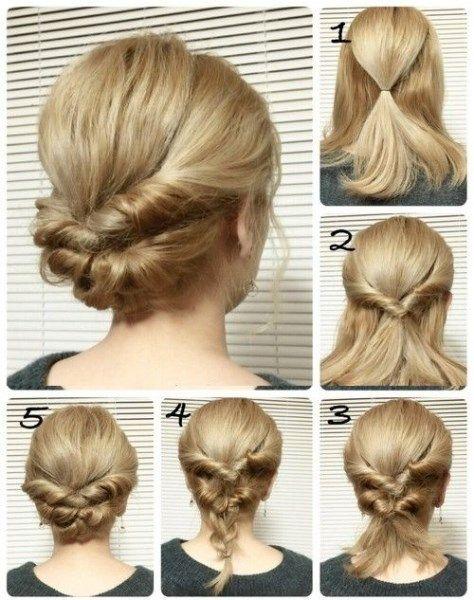 25 Schnelle Frisuren Fur Mittlere Und Lange Haare Fur Jeden Tag Kurz Haar Frisuren Frisur Hochgesteckt Lange Haare Frisuren