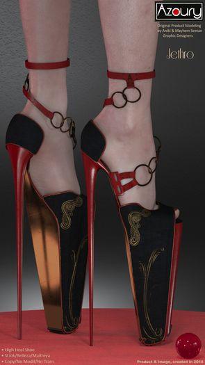 AZOURY - Jethro High Heel Shoe [Red]