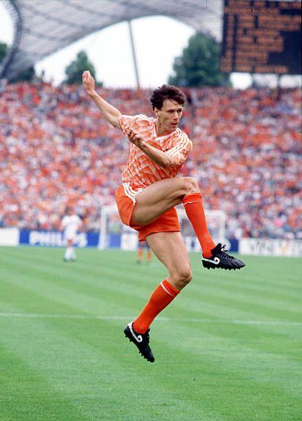 23rd JUNE 1988, Munich, West Germany, 1988 European Championships...    Marco van basten, Sports photograph, Football images