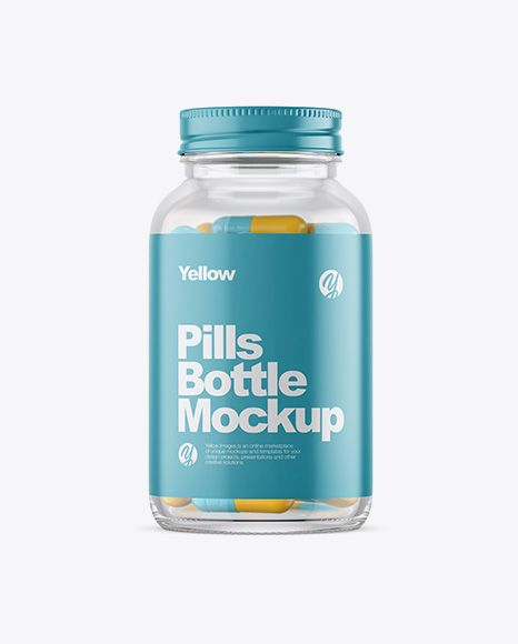 Download Clear Glass Bottle With Pills Mockup In Bottle Mockups On Yellow Images Object Mockups Mockup Free Psd Bottle Mockup Mockup Downloads PSD Mockup Templates