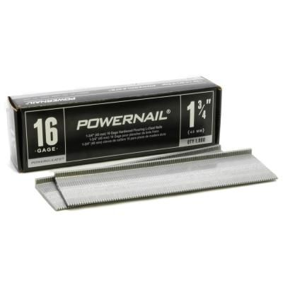 Powernail 1 3 4 In X 16 Gauge Powercleats Hardwood Flooring Nails 1000 Pack Hardwood Floors Flooring Maple Floors