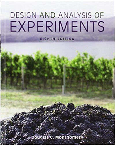 Solution Manual For Title Design And Analysis Of Experiments Edition 8th Edition Author S Douglas C Montgomery All Of Analysis Manual Design Experiments