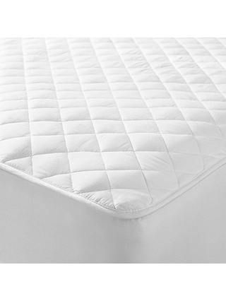 John Lewis Partners Natural Cotton Quilted Mattress Protector