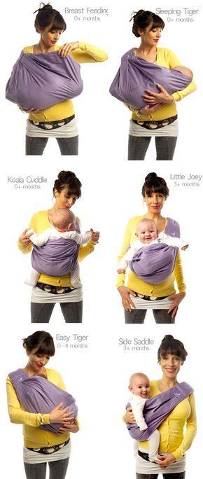Varias formas para cargar a tu bebé en sus diferentes etapas de su vida.