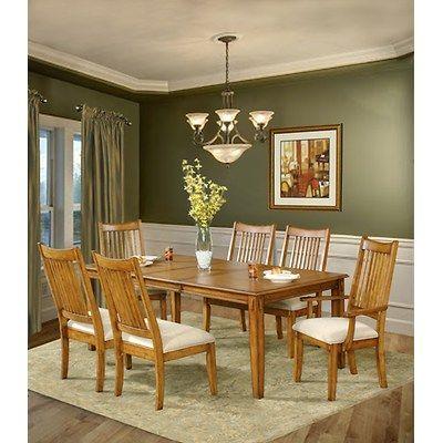 Charming 7 Piece Oak Dining Room Sets | ... South Furnishings Banebridge 7 Piece