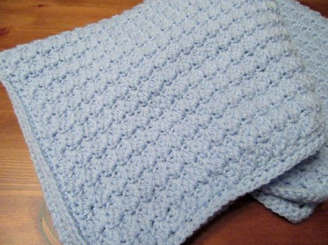 Handmade Crochet Baby Boy Blanket/Stroller by TheComfyBaby on Etsy