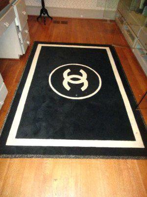 Chanel Bathroom Set Luxury Rug