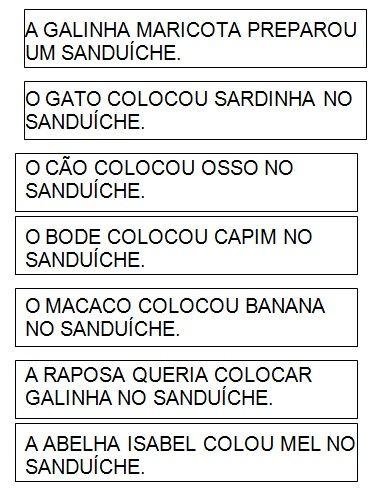 Alfabetizacao Livro O Sanduiche Da Maricota O Sanduiche Da