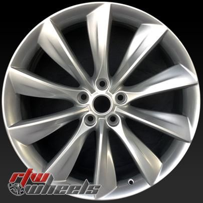 21 Tesla Model S Oem Wheels For Sale 2012 2017 Silver Rims 98727
