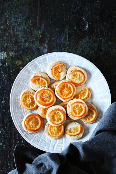 Five-Spice Shortbread Cookies with Candied Clementines   Christmas Desserts