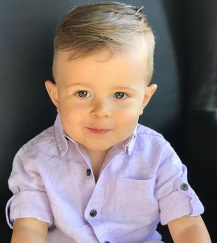 Fine Side Swept Hairstyle Baby Boy Hairstyles Toddler Boy Haircut Fine Hair Baby Boy Haircut Styles
