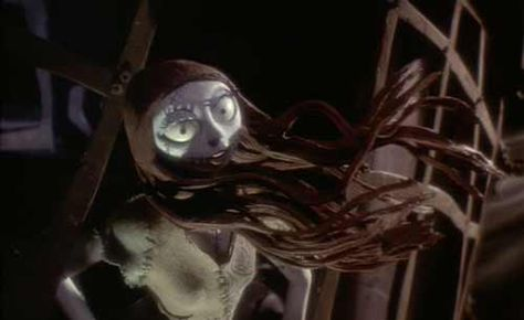 Nightmare Before Christmas: Sally's hair blowing in the wind (voiced by Catherine O'Hara.)