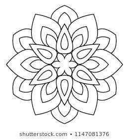 Easy Mandala Basic And Simple Mandalas Coloring Book For