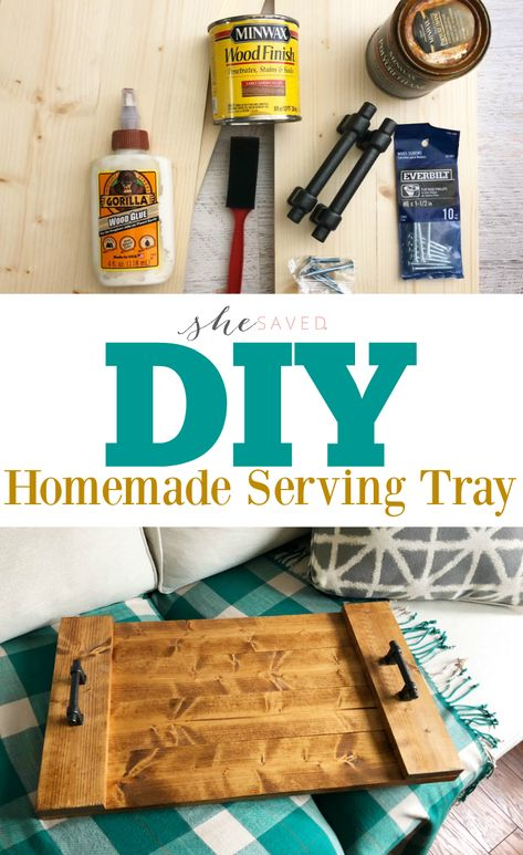 Easy DIY Farmhouse Serving Tray Project