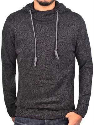 Men's Marled Hooded Sweater from Jordan Craig Legacy Edition Black ...