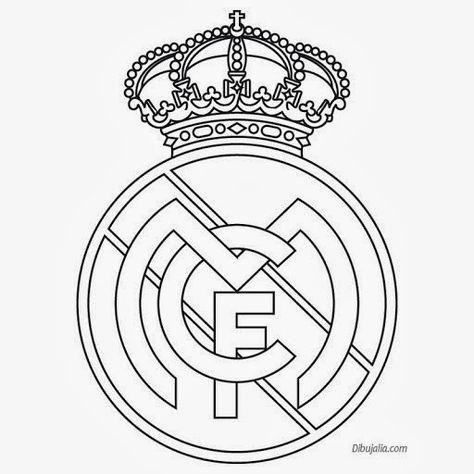 Plantilla Del Escudo Del Real Madrid Dibujos Del Real