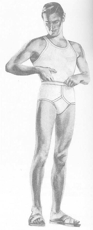 White stains in underwear male