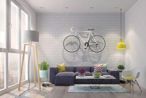 Soggiorni moderni componibili e un\'idea di arredamento con un divano ...